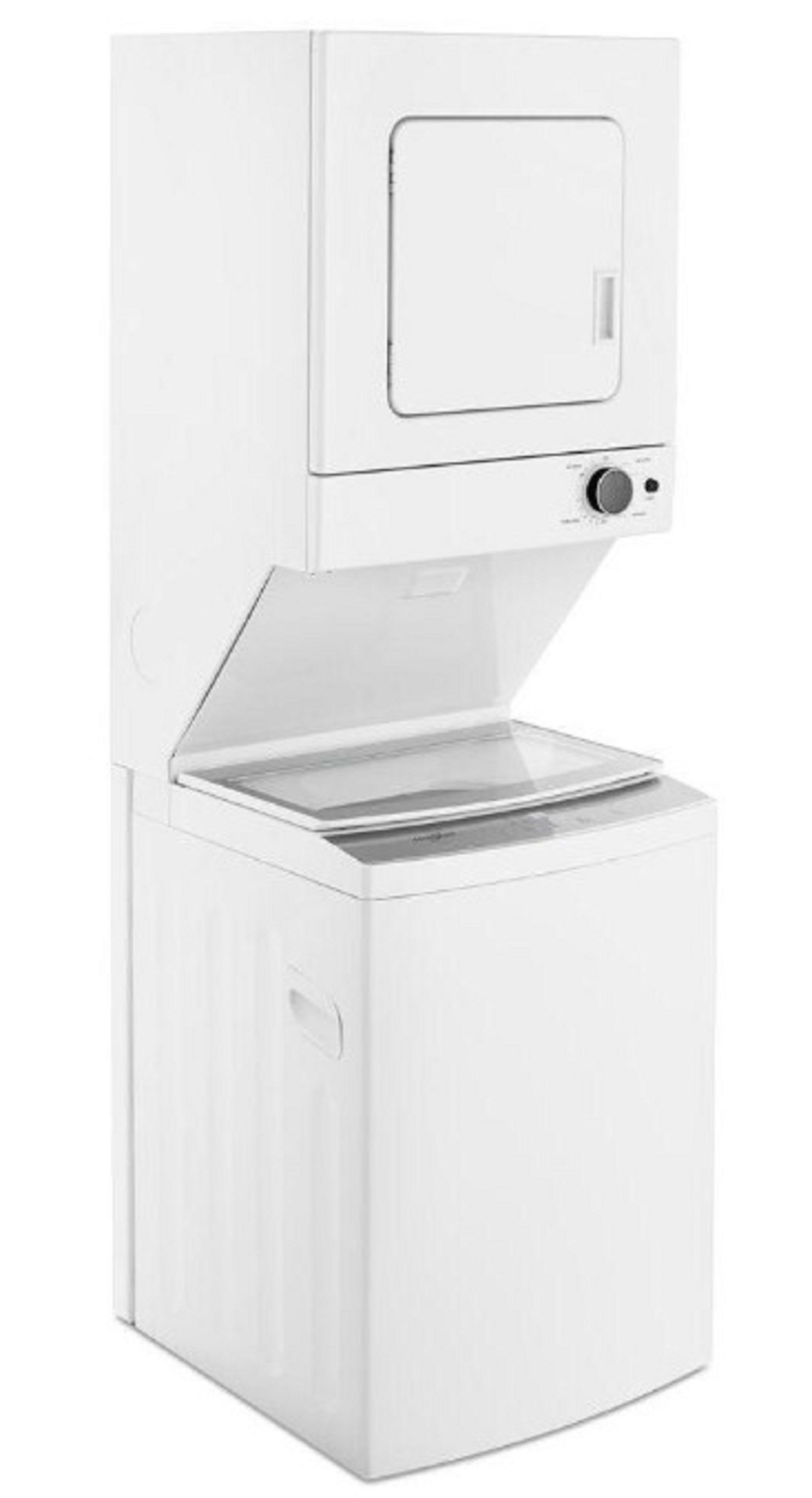 Whirlpool Wet4027hw High Efficiency White Laundry Center With