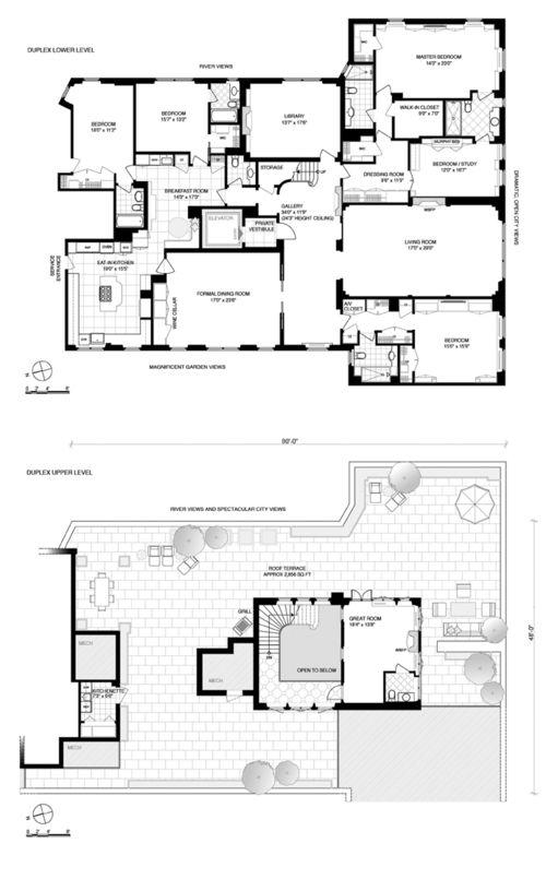 Park Avenue Penthouse With Palatial Terrace Asks 27 5m