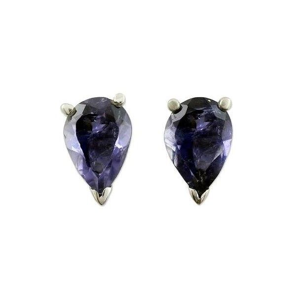 NOVICA Fair Trade Iolite Stud Earrings 2.5 cts (€39) ❤ liked on Polyvore featuring jewelry, earrings, clothing & accessories, iolite, stud, fair trade jewelry, novica earrings, studded jewelry, novica jewelry and earring jewelry