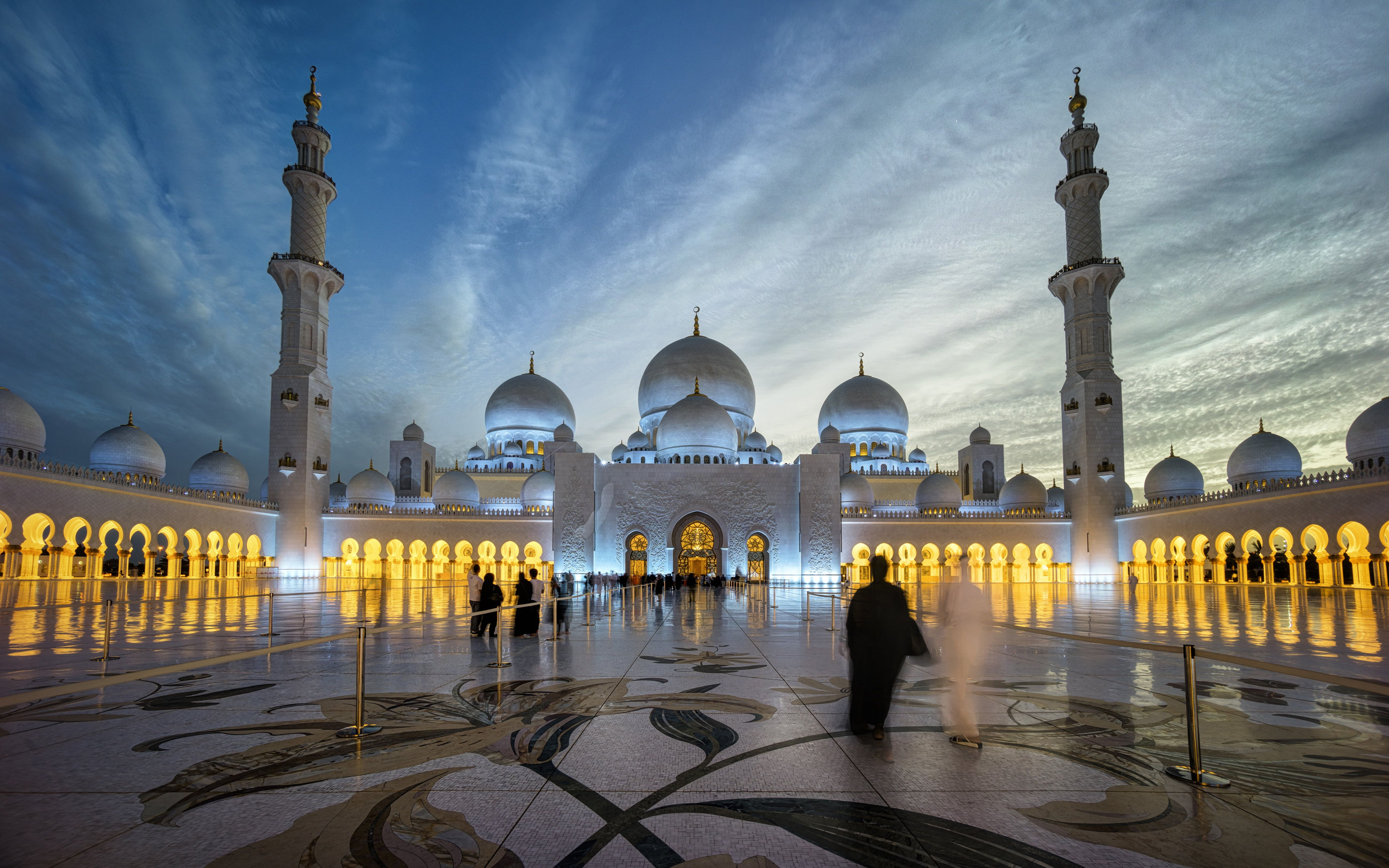Sheikh Zayed Grand Mosque Centre Abu Dhabi Beautiful Photography In The Night Desktop Hd Wallpaper For Pc Tablet Sheikh Zayed Grand Mosque Grand Mosque Mosque