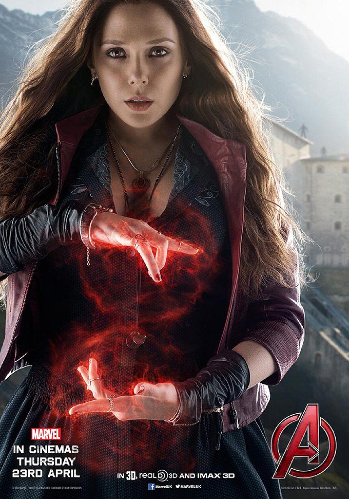 La Bruja Escarlata Elizabeth Olsen Marvel Bruja Escarlata Vengadores Marvel