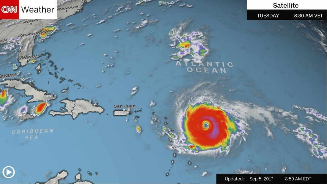 Hurricane Irma Powers Toward Caribbean Islands Caribbean Islands One Hurricane Atlantic Hurricane