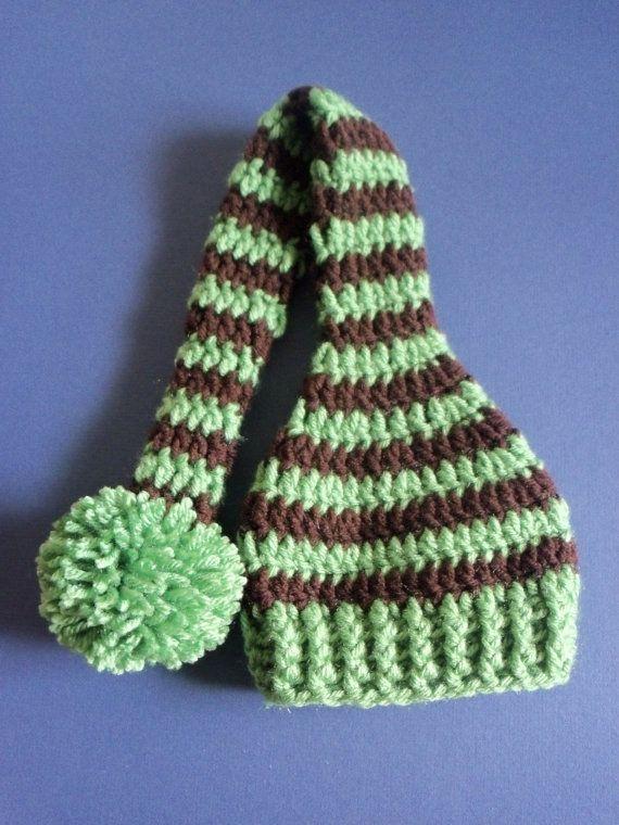Larga cola elf sombrero de ganchillo larga cola elfo por LovelyJC ...