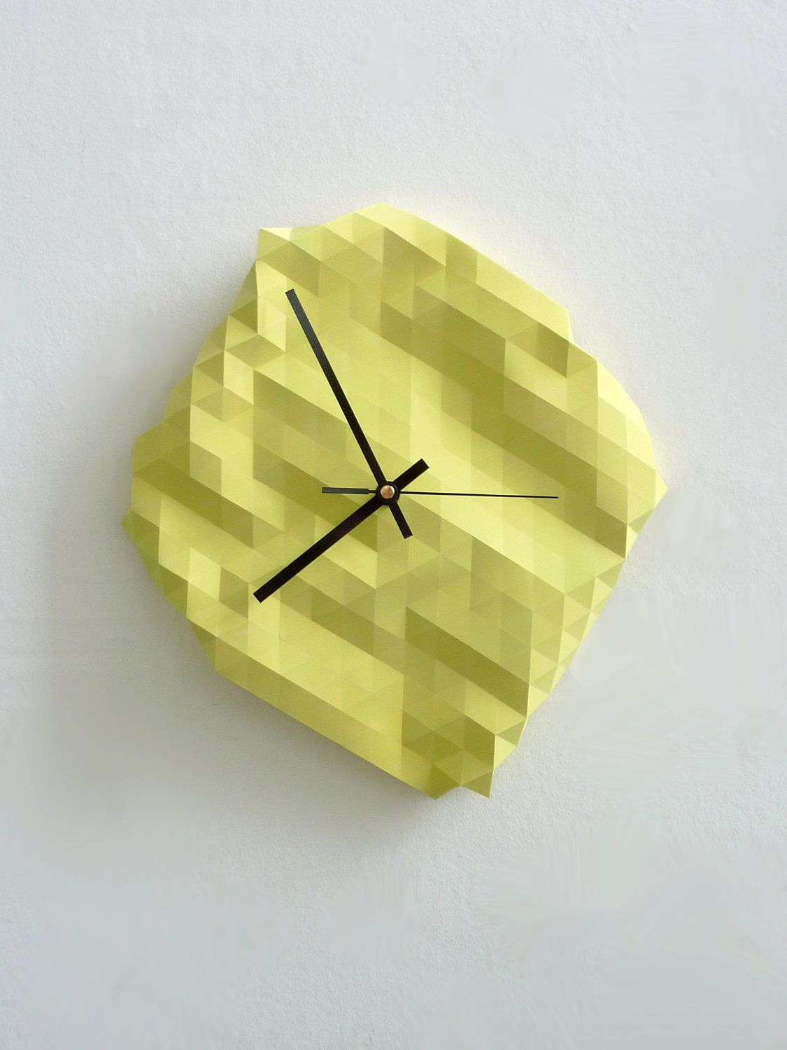 DOUBLE LOVE! Faceted Wall Clock. £45.00, via Etsy. | Homey ...
