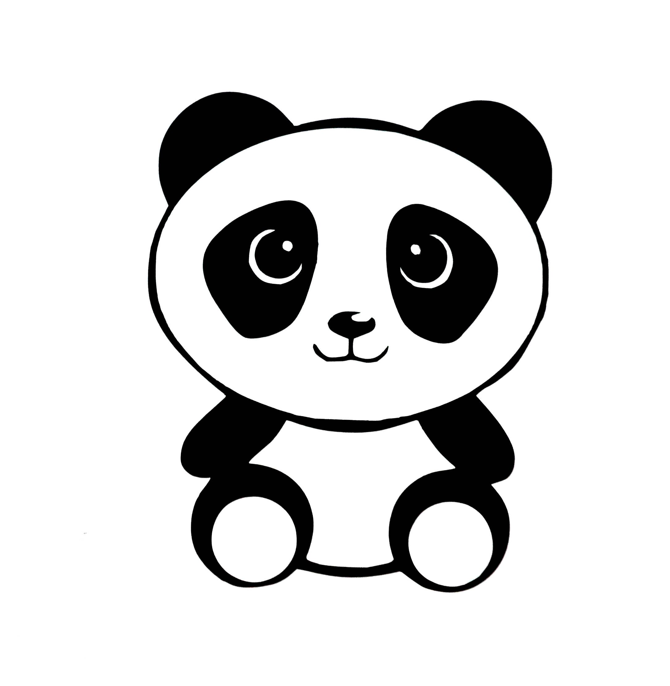 Baby panda window decal panda bear computer laptop sticker decal panda car decal cute panda sticker panda decal animal sticker