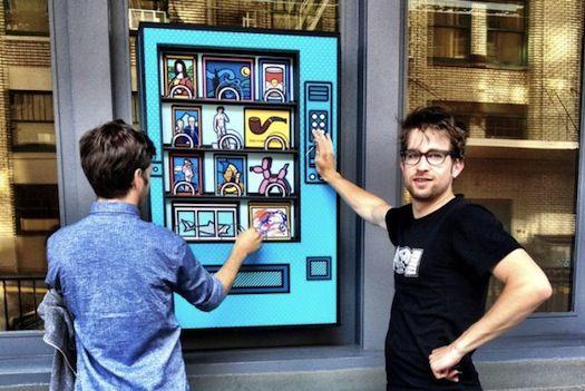 Art Vending Machine raises money for charity
