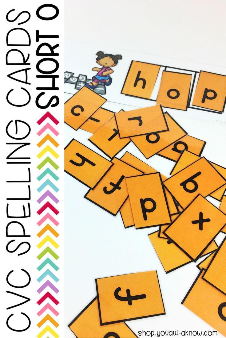 CVC Spelling Cards: Short O   Task Boxes & File Folder Games   Pinterest