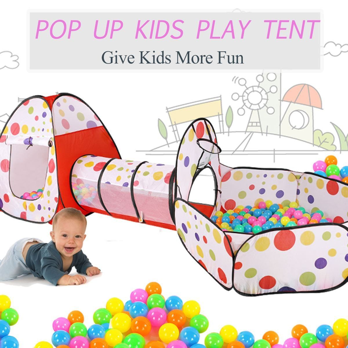 Playhouse Girls Toy Play Tent Childrens Pop Up Play Tent Designed like an Enchanted Forest with a Unique Printed Play Floor Den by Pop It Up