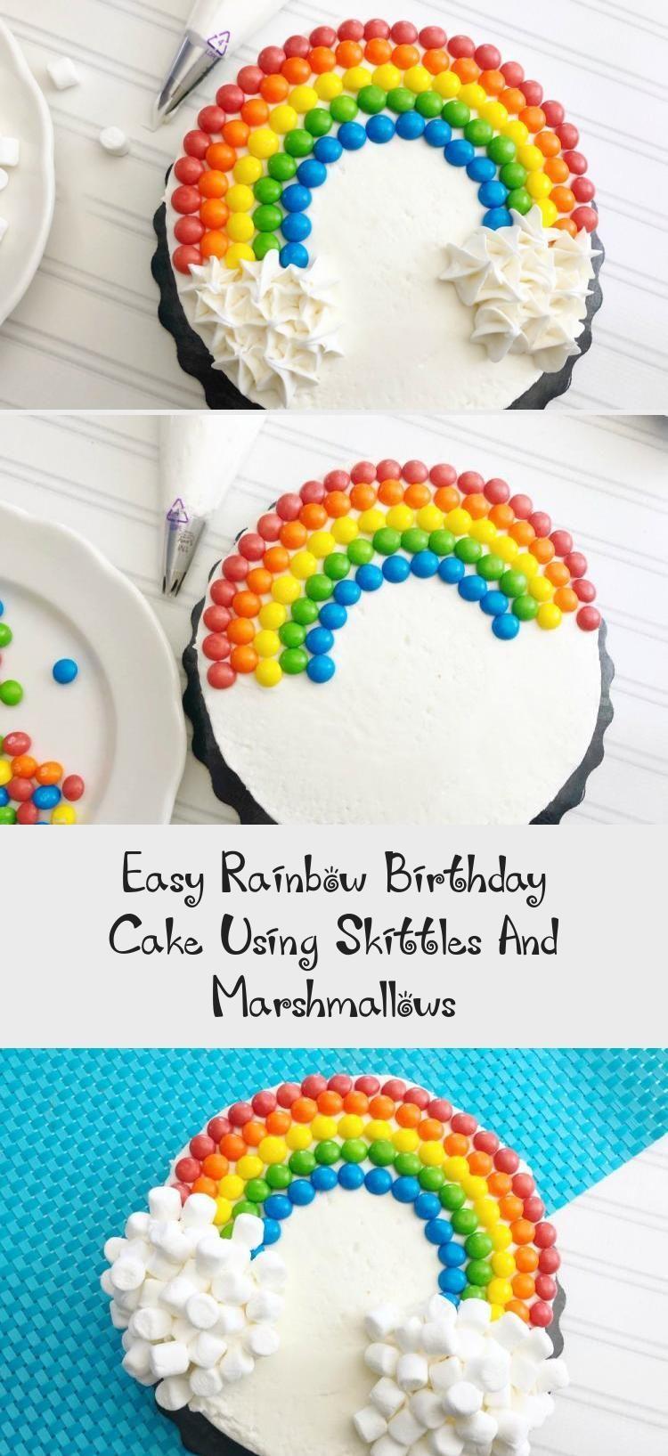 Pleasant Easy Rainbow Birthday Cake Using Skittles And Marshmallows Cakes Funny Birthday Cards Online Barepcheapnameinfo