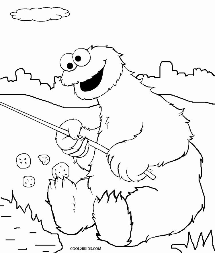 38++ Cookie monster coloring page information