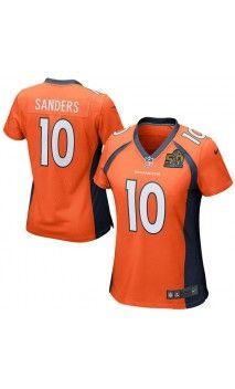 NFL Women's Denver Broncos Emmanuel Sanders Orange Super Bowl 50 Bound Game Jersey #SB50 #broncos #sportsjerseys
