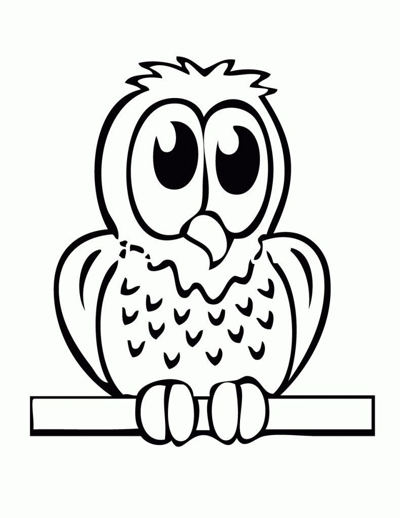 Image Result For Easy Drawings For Kids Owl Coloring Pages Easy