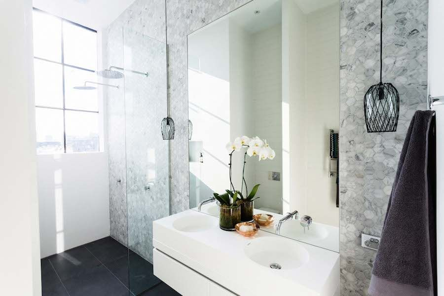 Ensuite Bathroom Lighting the block glasshouse: week 8 room reveals | ensuite bathrooms