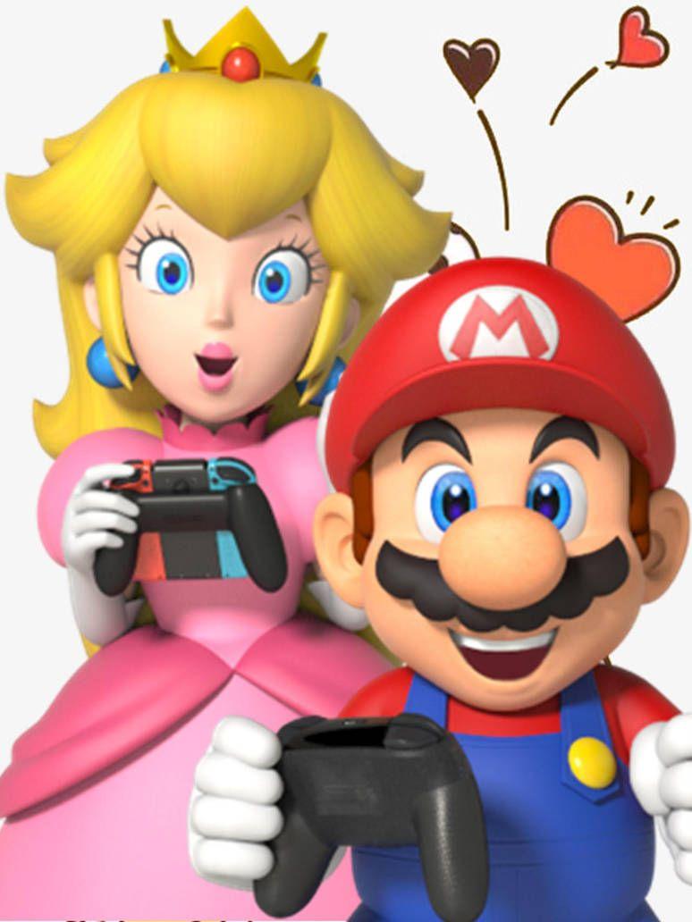 Peach Y Mario Nintendo Switch Online By Gabymariofangirl Mario And Princess Peach Mario Super Mario Party