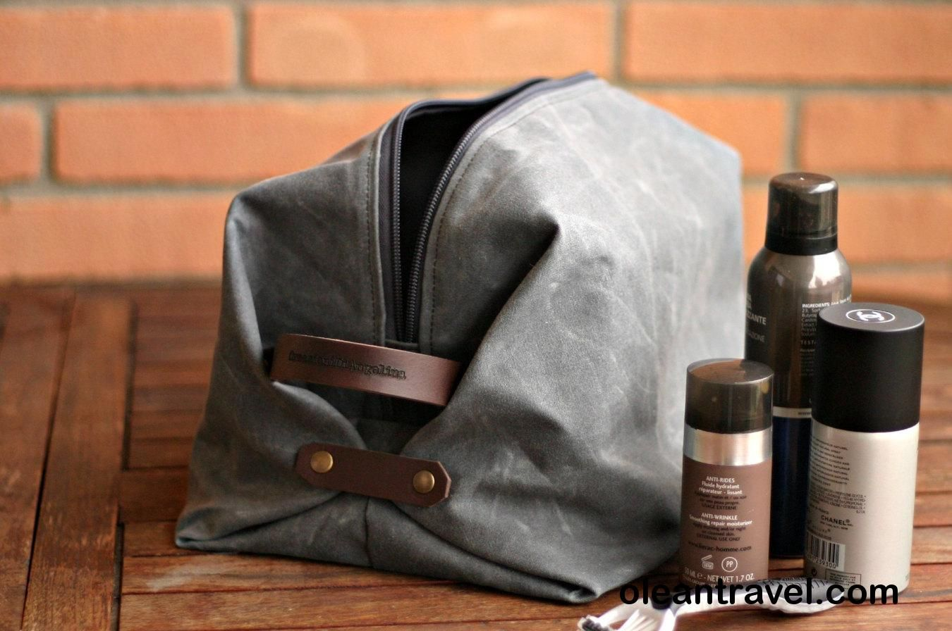 159062d355f Waxed canvas Toiletry bag - mens toiletry bag - travel case - Waxed Canvas  bag -