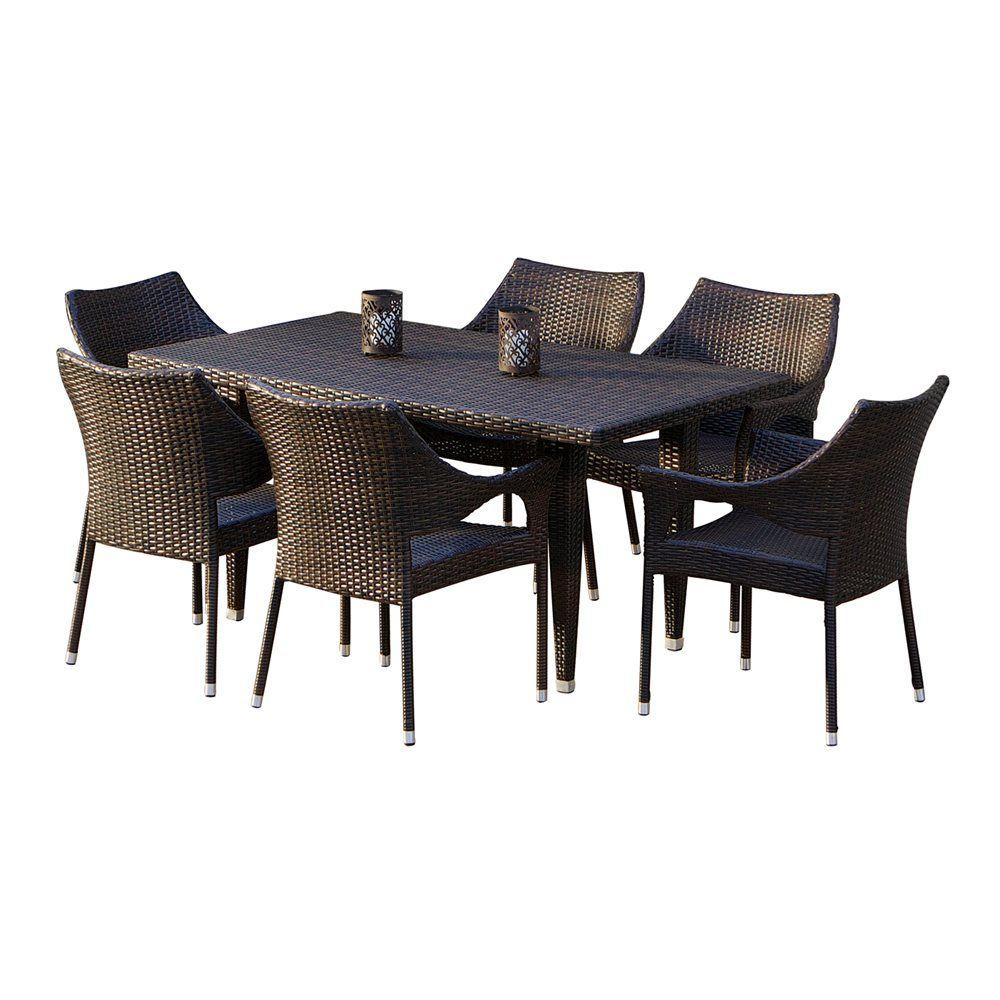 Home Loft Concepts Norm 7 Piece Outdoor Dining Set