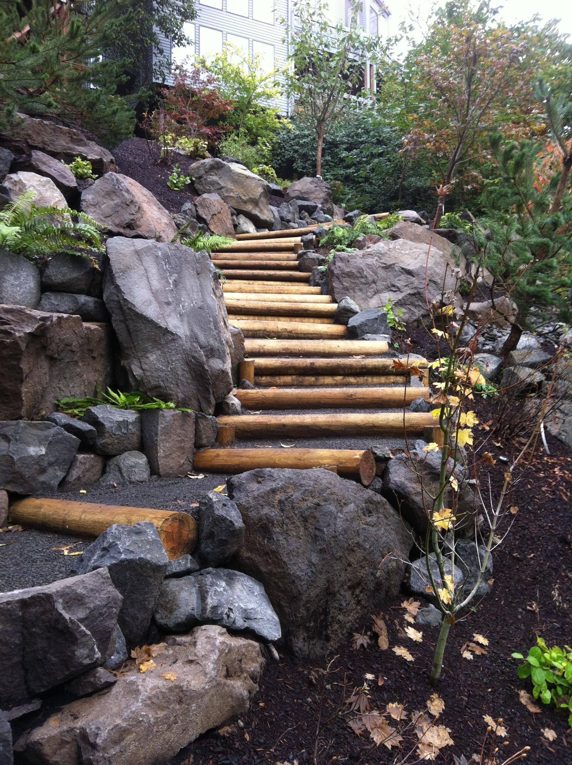Hillside Landscaping With Rock