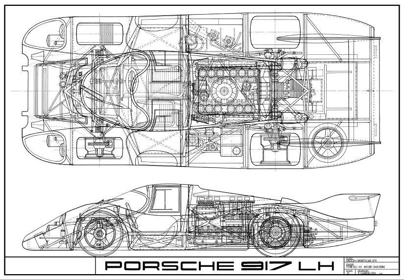 The Porsche Cayman Gt4 Porsche 917 Porsche Car Drawings