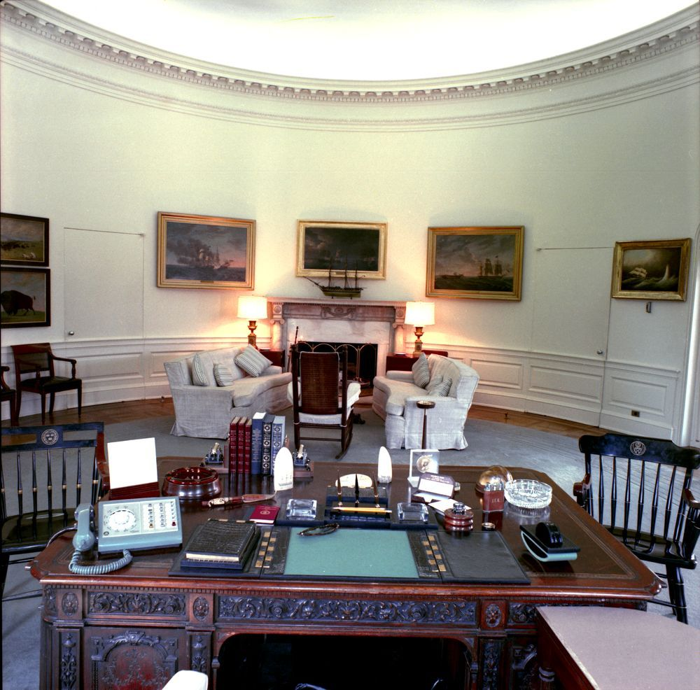 Kennedy Oval Office White House Interior House Kennedy