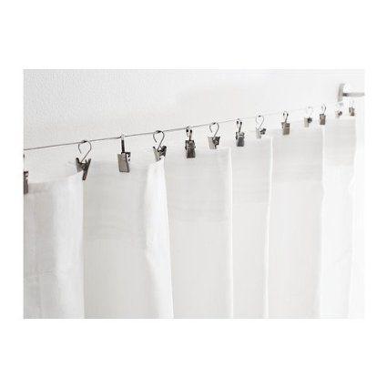 Ikea Dignitet Riktig Curtain Hooks X 24 Curtain Hook With Clip Amazon Co Uk Kitchen Home Room Divider Curtain Curtains Diy Room Divider