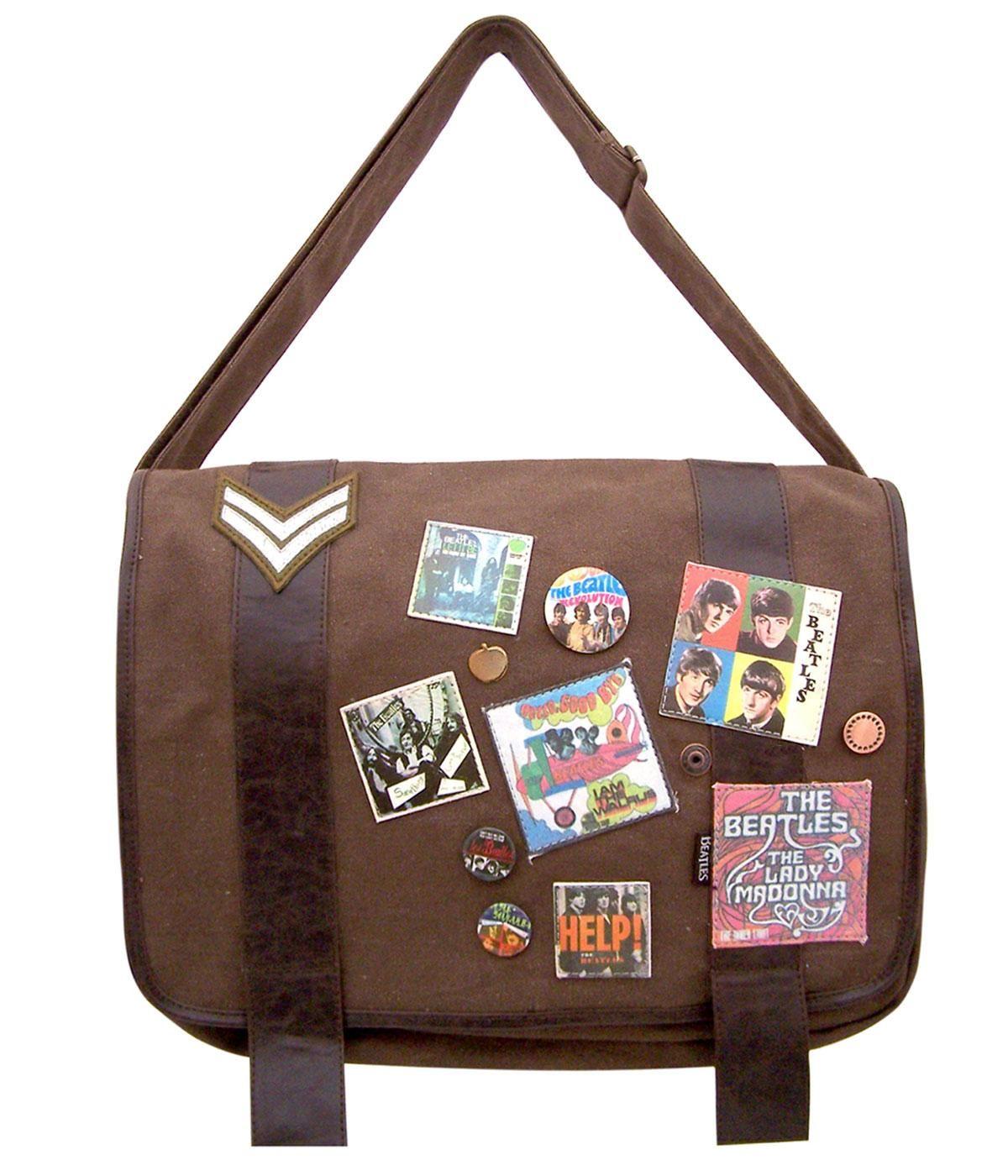 Beatles Military Satchel Shoulder Bag | Beatles Bags, 60s