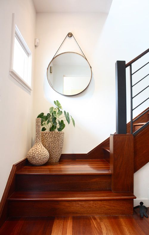 Make Your Stair Landing Work for You | Wood stairs, Dark wood and ...