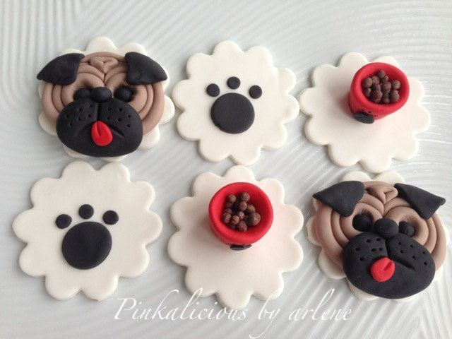 It S A Pug Life Edible Puppy Dog Cupcake Toppers Dog Cupcakes