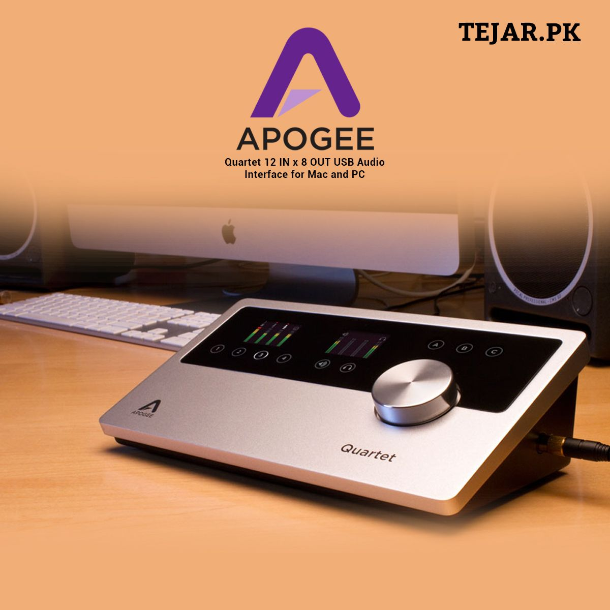 Apogee Quartet 12 In X 8 Out Usb Audio Interface For Mac And Pc In