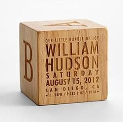 Natural wood keepsake block keepsake wood personalized babies negle Images