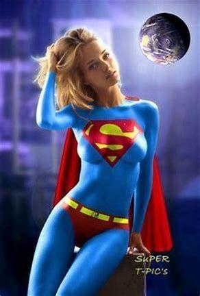 paint body cuoco Kaley superman