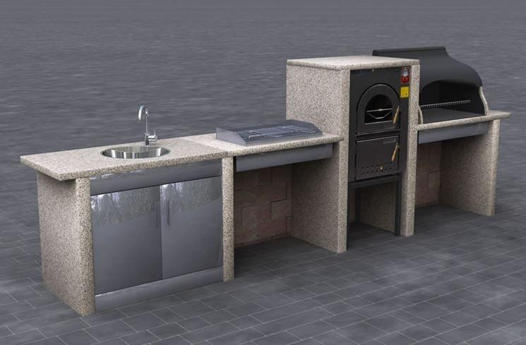 Cucine da esterno : Realizzare cucine da esterno | Barbecue e cucine ...
