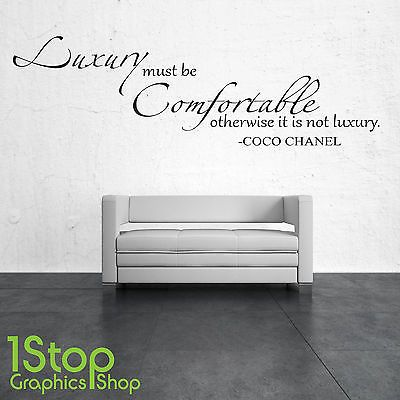 luxury must be comfortable coco chanel wall sticker quote - wall art