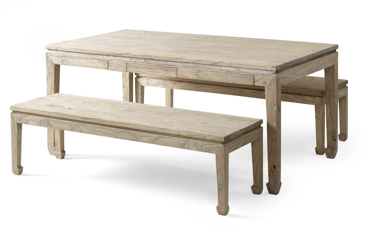 Dining Table And 2 Benches Country Dining Tables Dining Table