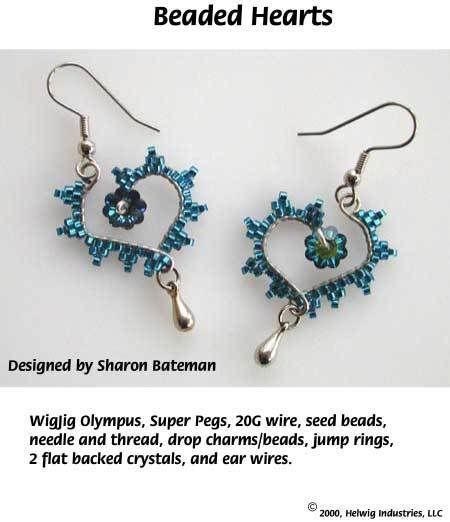free tutorial Make Your Own Beaded Heart Earrings