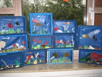 aquarium im schuhkarton schule pinterest schuhkarton aquarium und regenbogenfisch. Black Bedroom Furniture Sets. Home Design Ideas