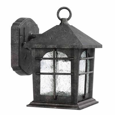 Home Decorators Collection Brimfield 1 Light Outdoor Aged Iron Wall Lantern Hb48023pa 151 The Depot