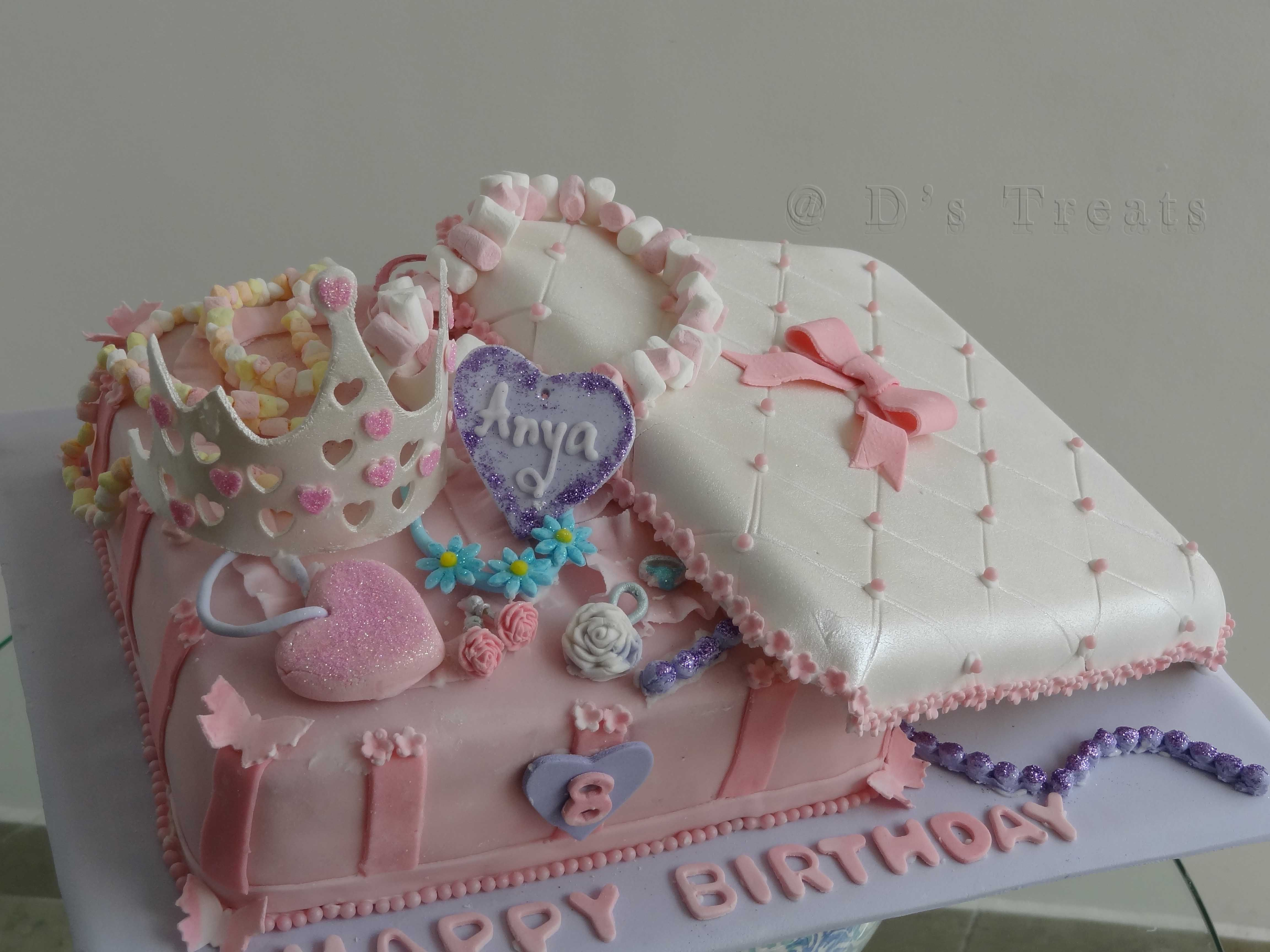 Surprising Jewellery Box Birthday Cake For A Jewellery Making Theme Party Personalised Birthday Cards Sponlily Jamesorg
