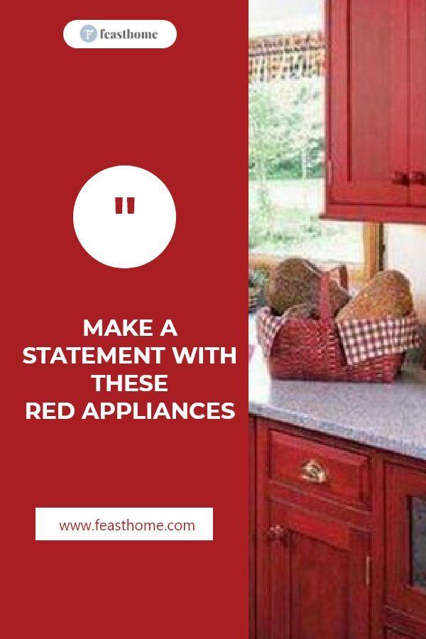 Geben Sie eine Erklärung mit diesen roten Geräten in der Küche ab   – Kitchen Appliances