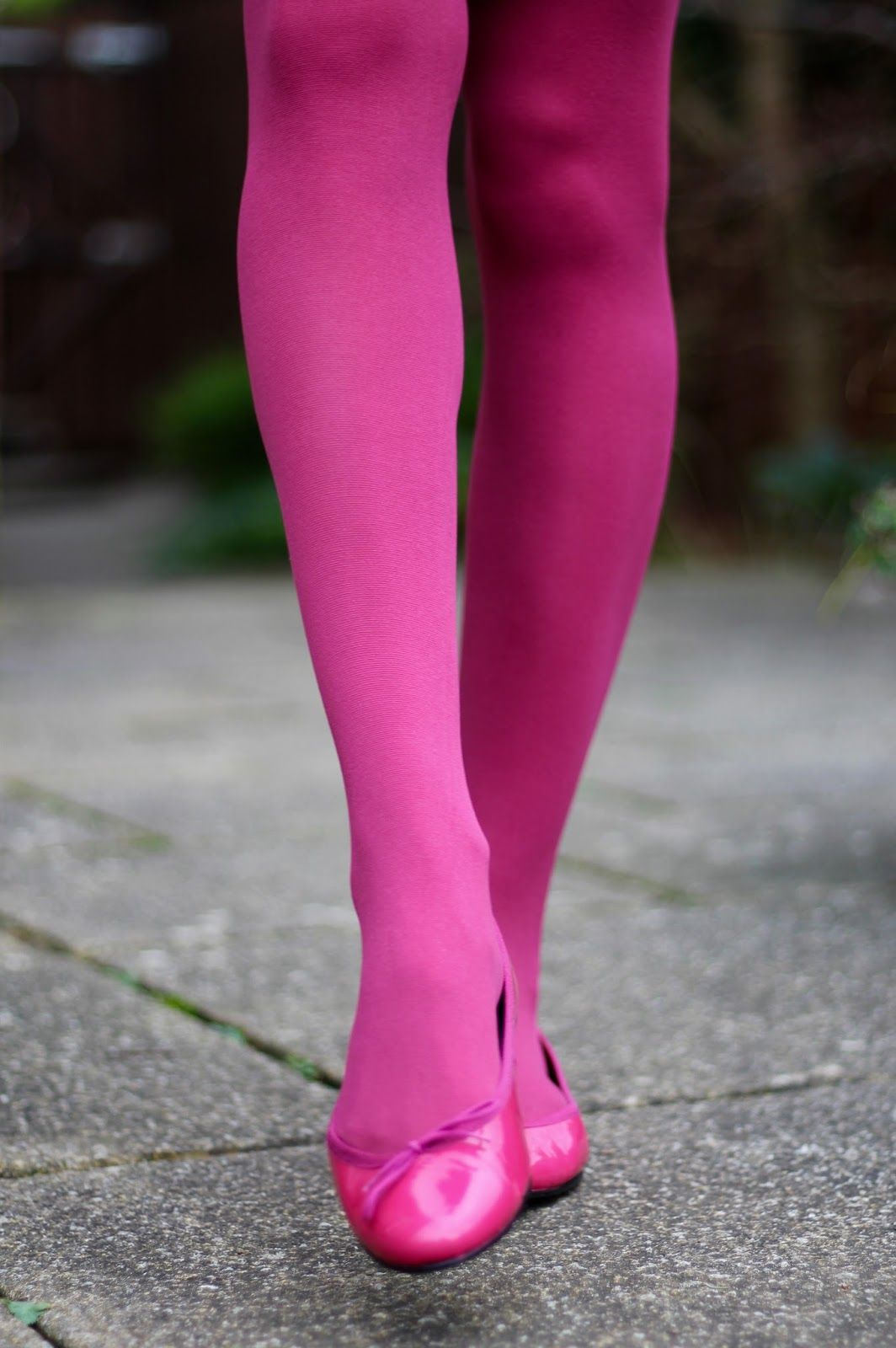 Simple But Fun Work Outfit Tights Pink Tights Cute