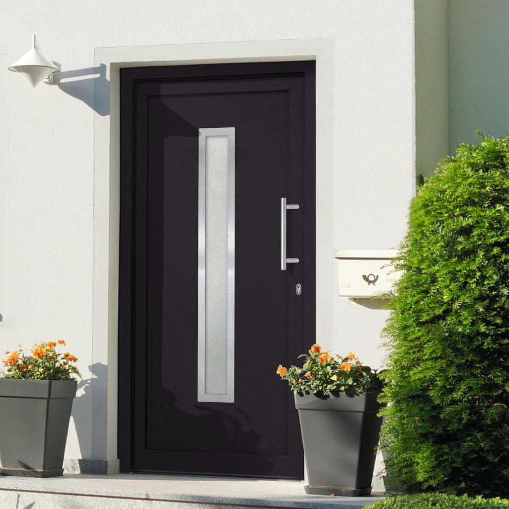 vidaXL Entrance door anthracite 88 x 200 cm