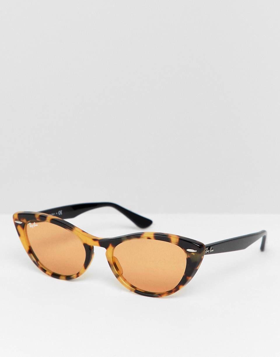 f6c45d2ee1f Ray-Ban - 0RB4314N - Lunettes de soleil yeux de chat fines ...