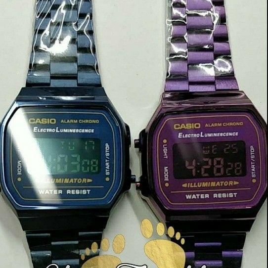 4d7745c30665 Casio A168 Violet A168 Blue  35.00
