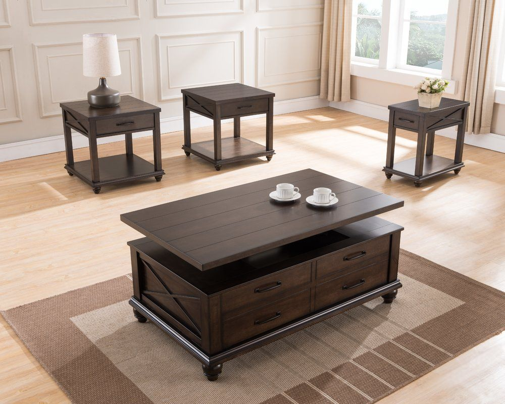 Dreyer rectangular coffee table with storage coffee