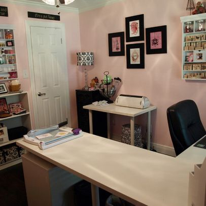 Craft Room Ideas And Layouts 10x10 Pink Damask Craft Studio