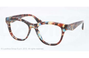 e1a75b84c1d Prada PR04QV Eyeglass Frames NAG1O1-49 - Havana Spotted Blue Frame ...