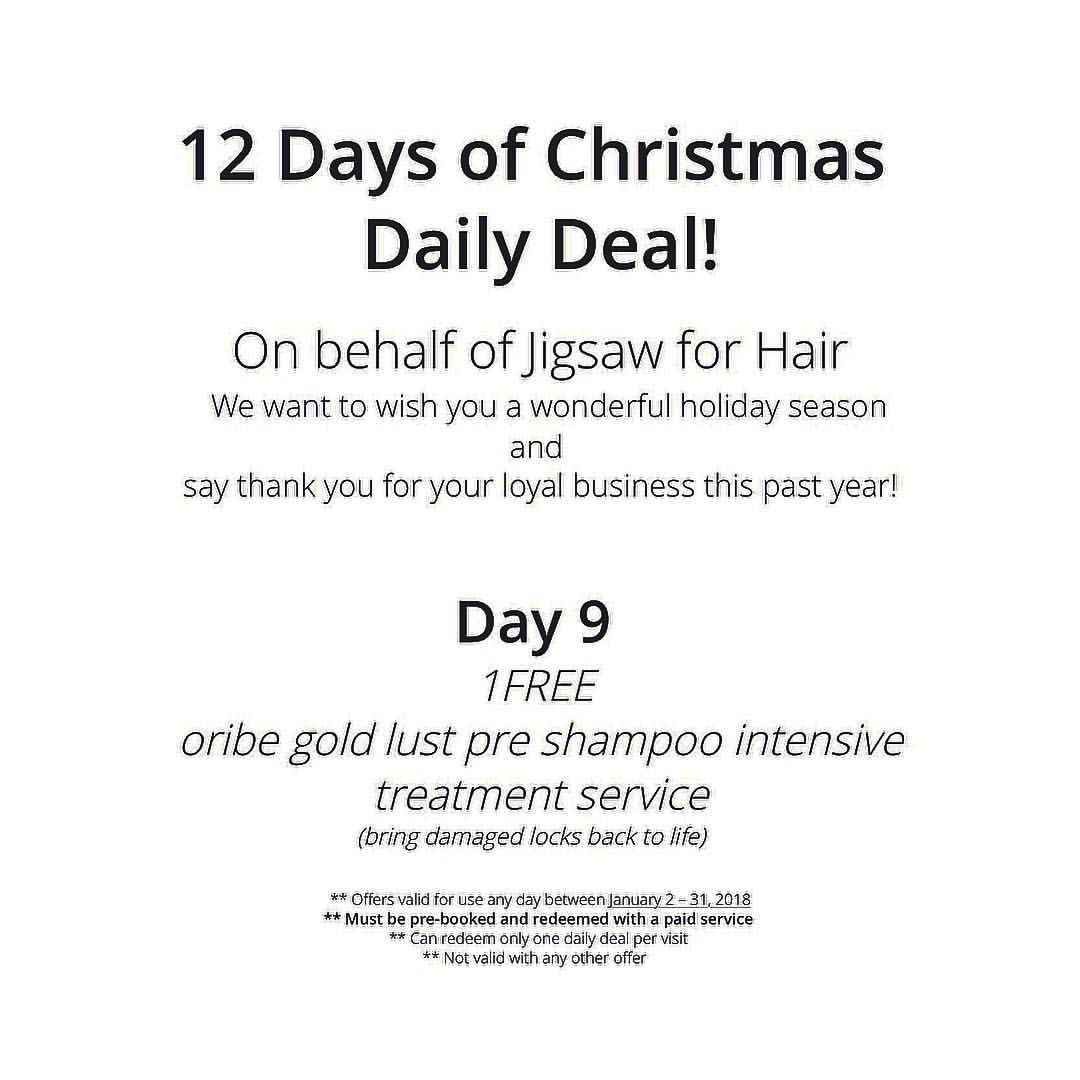 Luxury hair salon, 19 days of Christmas, marketing ideas  Luxury