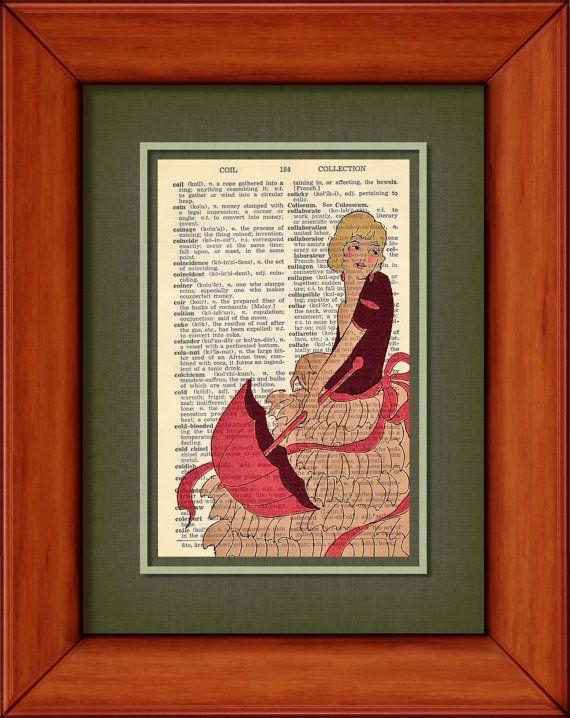 "dictionary print - kerri - 6 3/4"" x 9 3/4"" vintage dictionary art print. $7.00, via etsy."