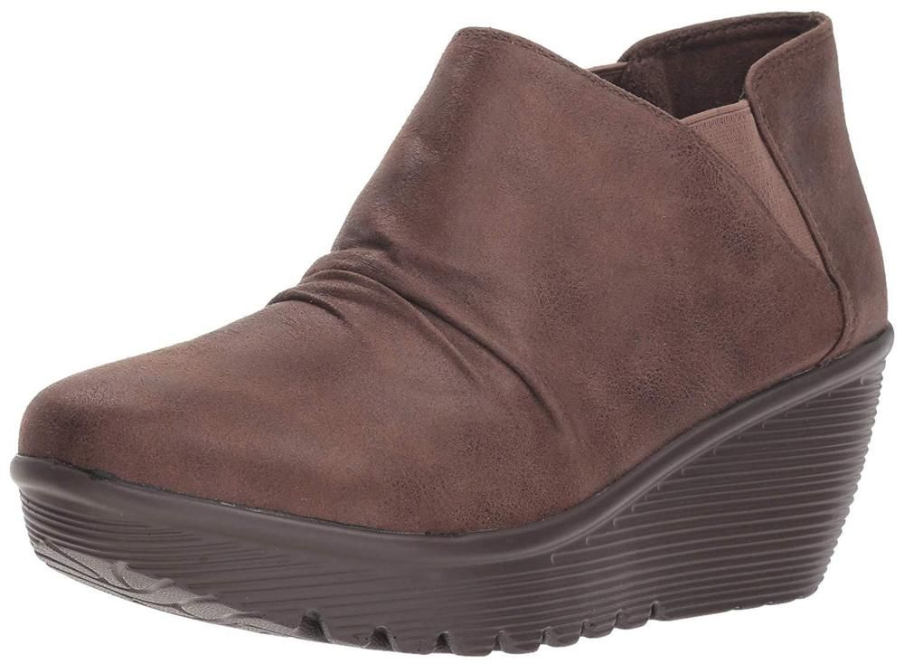 Skechers Women S Parallel Curtail Twin Gore Ruched Bootie Ankle