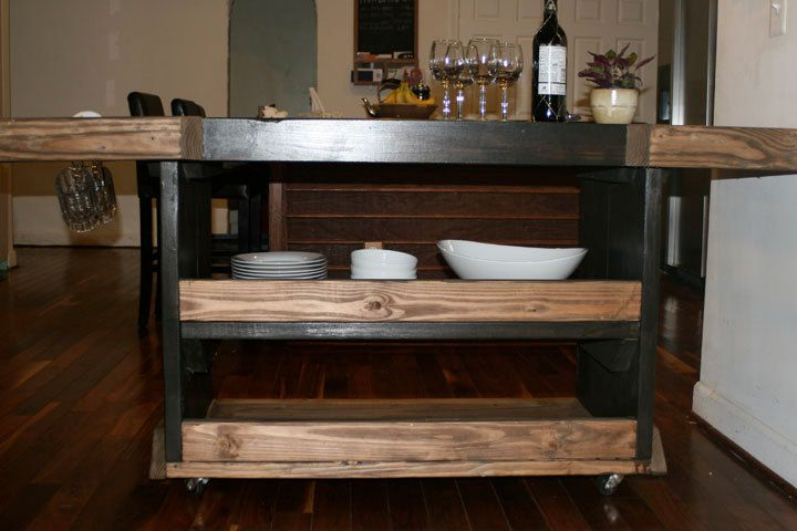 kitchen island cart industrial. Beautiful Two Toned Kitchen Island / Industrial Reclaimed 60\ Cart T