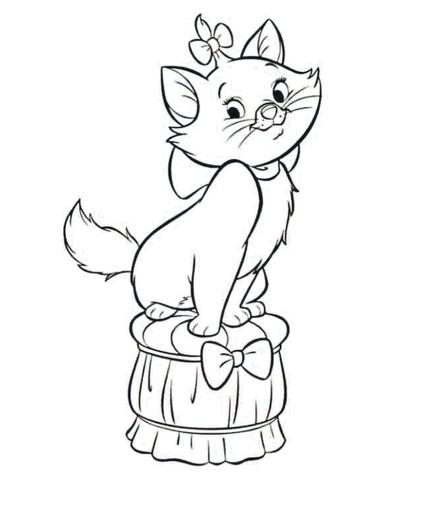 Moldes de la gatita marie - Imagui | dibujos pantalón fiestas ...
